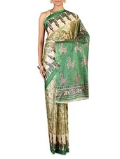 Green Art Silk Saree - By