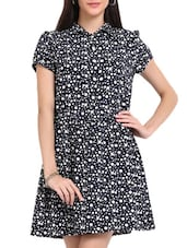 Navy Blue Polka Dot Dress - Sweet Lemon