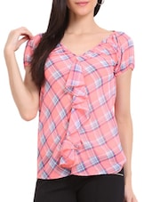 Pink Checked Top - Sweet Lemon