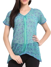 Sea Green Printed Tunic - Sweet Lemon