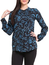 Black And Blue Printed Tunic - Sweet Lemon