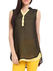 Black And Lemon Yellow Tunic - Sweet Lemon