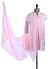 Pink Chiffon Plain Dupatta - Dupatta Bazaar