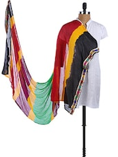 Chiffon Color Blocked Dupatta - Dupatta Bazaar