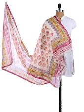 Multicolor Chanderi Silk Block Printed Dupatta - Dupatta Bazaar