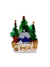 Set Of 1 Christmas Tree, 1 Basket, 1 Merry Christmas Tag And 1 Decorative Piece - By