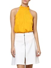 Chrome Yellow  Halter Neck Top - Palette