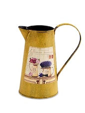 Light Brown Metallic Watering Can - By