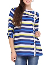 Blue And White Striped Tunic - Lubaba