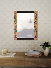Wooden Gond Painting Wall Mirror - By