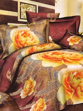 Paisley With Roses Print Bed Linen With Pillow Covers - Skap