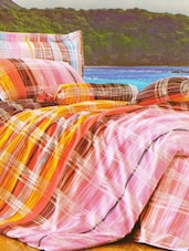 Lovely Checkered Printed Bed Linen With Pillow Covers - Skap