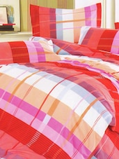 Red Checkered Bed Linen With Pillow Covers - Skap