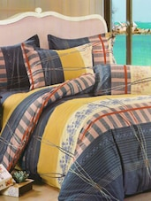 Lovely Grey Printed Bed Linen With Pillow Covers - Skap