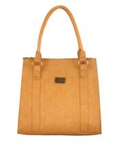 Plain Solid Beige Handbag - Utsukushii