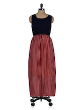 Black Striped Maxi Dress - 399