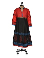 Color Block Printed Anarkali Kurti - Ridhi Siddhi