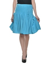 Blue Knee Length Skirt - Trendz Clothing