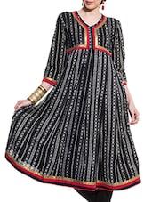 Black Anarkali With Jacket Style - ZOVI