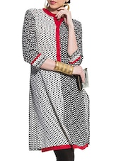 Grey And Black Colour Block Kurta - ZOVI