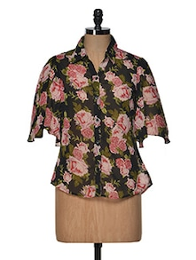 Floral Bell Sleeves Top - Popnetic