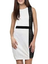 Black And White Laced Dress - By