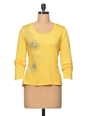 Yellow ColourArty Viscose Top - LA ARISTA