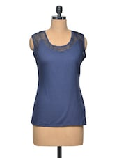 Blue Colour Cotton Top - LA ARISTA