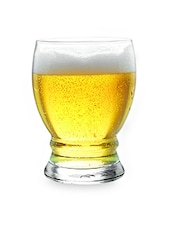Set Of 6 Clear Beer Glasses - By