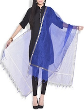 Royal Blue Kota Silk Dupatta - By