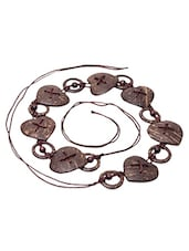Heart Shaped Wooden Beads Waist Belt - Swanvi