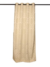 Ivory Floral Curtain - Cortina