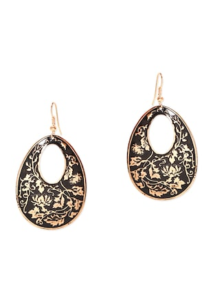ANTIQUE OVAL gold HANGING EARRING