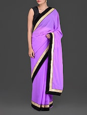 Light Purple Georgette Saree - By