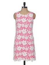 Pink And White Lace  Shift Dress - KARYN