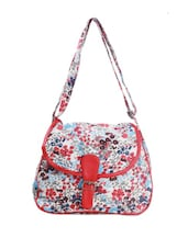 Cute Floral Print Sling Bag - Art Forte
