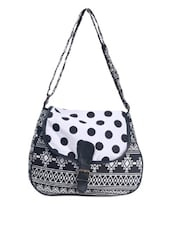 Geometric & Polka Monochrome Sling Bag - Art Forte