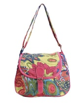 Multicolor Printed Sling Bag - Art Forte
