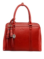 Tassel Detail Red Handbag - Diana Korr