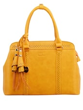 Tassel Detail Yellow Handbag - Diana Korr