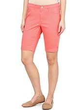 Candy Pink Knee-length Shorts - By