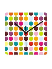Multi Coloured Polka Dotted Wall Clock - Krayons