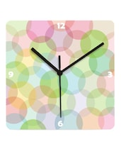 Soft Pastel Bubbles Rainbow Wall Clock - Krayons