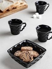 black ceramic diamond Snack set -  online shopping for Coffee & Tea Sets