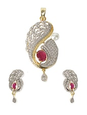 Crystals Metal Alloy Pendant Set - By