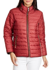 Quilted Red Long Sleeve Jacket - By
