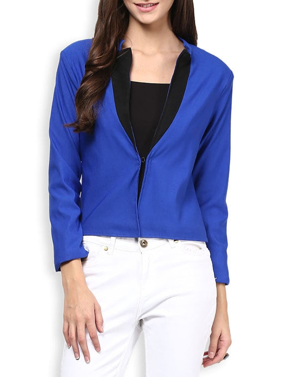 Blue Full Sleeved Formal Blazer - By