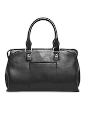 Black Genuine Leather  Handbag - By