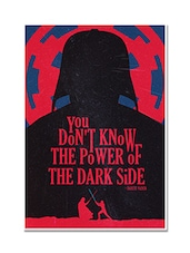 The Power Of Dark Side Darth Vader Movie Quotes Poster - By