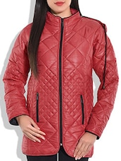 Red Quilted Hoodie Jacket - By